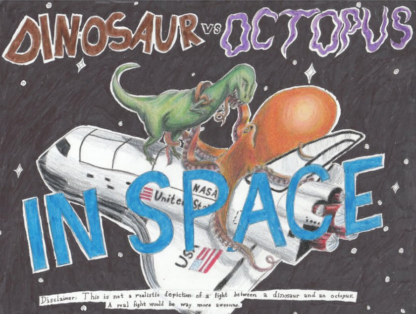 dinosaur_vs__octopus_in_space_by_fifthdimensional-d5bojf1